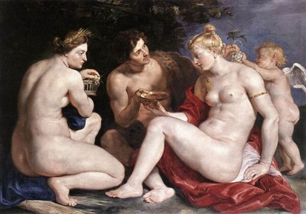 Рубенс. Венера, Купидон, Вакх и Церера. 1612 год