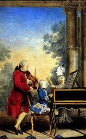 Семья Моцартов на гастролях