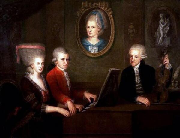Наннерль, Вольфганг и Леопольд Моцарты