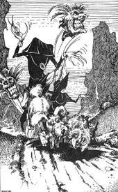 Жуткие Прыгалсы с двумя лицами, способные ещё и кидаться... своими головами.