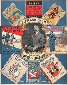 Постер, рекламирующий детские книги Баума