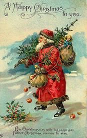 В католических странах подарки детям на Рождество приносил Father Frost или Father Christmas, теперь все больше Санта Клаус
