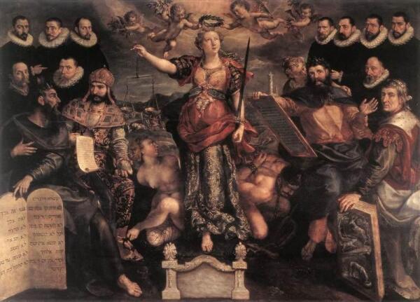 Мартен де Вос. «Высший суд», 1594 год