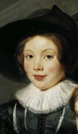 Рубенс. Портрет Альберта и Николаса, детей художника. 1626г, Фрагмент. Лицо Альберта