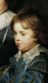 Рубенс. Портрет Альберта и Николаса, детей художника. 1626г.Фрагмент. Лицо Николаса