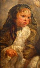 Рубенс. Елена с Кларой Иоанной и Франциском. 1635−1636 гг. Фрагмент. Клара Иоанна