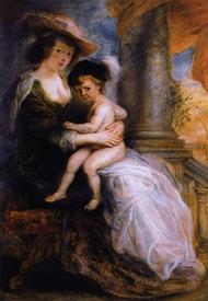 Рубенс. Елена Фоурмент со своим старшим сыном Франциском. 1635г.