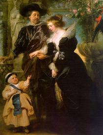 Рубенс. Елена Фоурмент с Изабеллой Еленой. 1637−1638 гг.