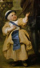 Рубенс. Елена Фоурмент с Изабеллой Еленой. 1637−1638 гг. Фрагмент. Изабелла Елена