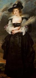 Рубенс. Портрет Елены Фоурмент. 1630, 186х85 см, Museu Calouste Gulbenkian, Lisbon, Португалия
