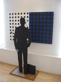 Вейкко Тёрмянен (Оулу)/ Отправление. 2011. Металл, акрил, зеркало, игральные карты