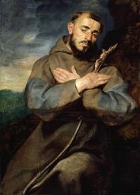 Рубенс. Франциск Ассизский.1615 год. 99х79 см