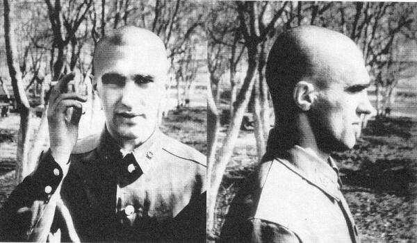 Слава Бутусов после окончания военных сборов в апреле 1984 г.