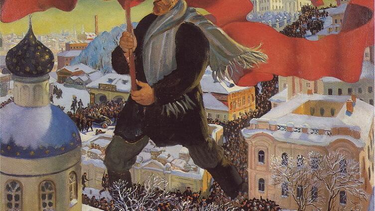 Б. Кустодиев «Большевик» (1920 г.)