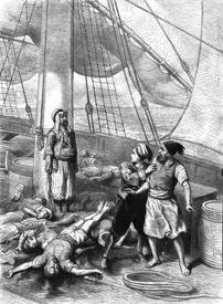 Иллюстрация к сказке о корабле привидений