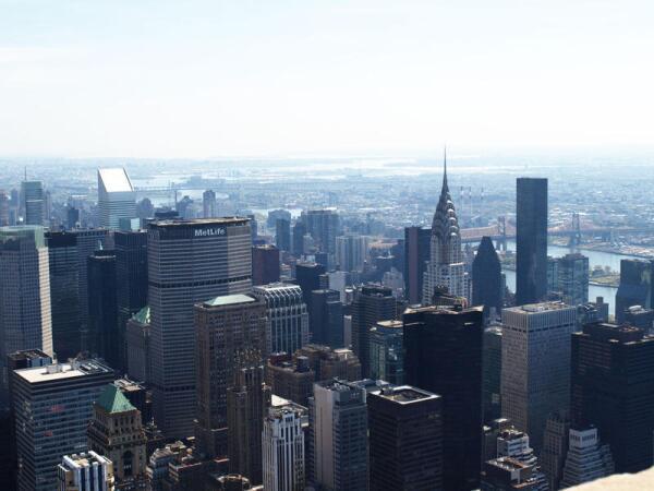 Вид со смотровой площадки Empire State Building (86 этаж)