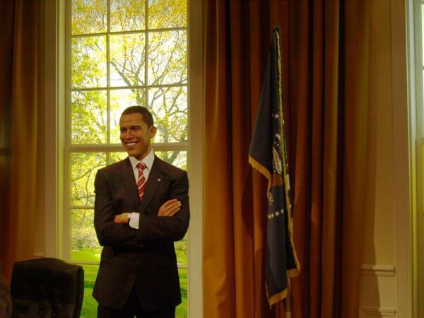Барак Обама в музее восковых фигур