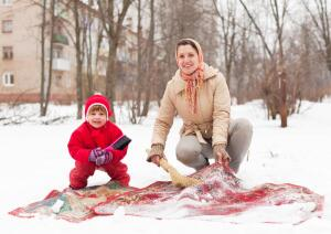 Чем чистили ковры наши бабушки?
