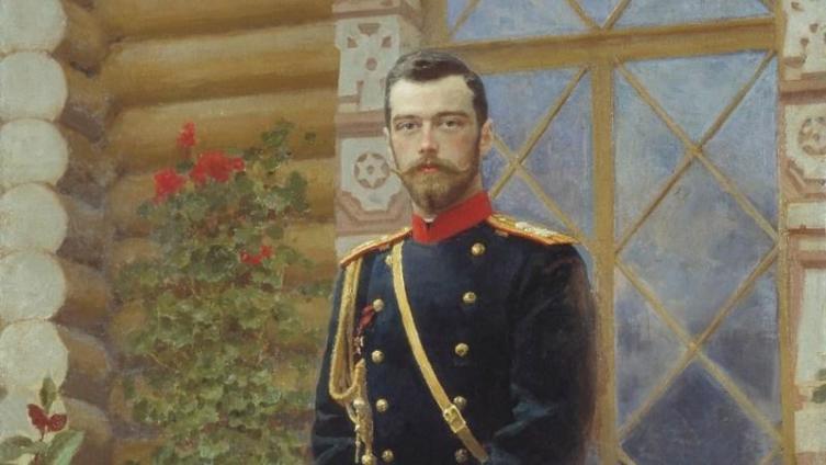 Николай II, портрет работы И. Репина, фрагмент