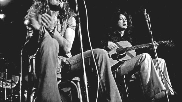 Плант и Пейдж в акустике, 1973 г.