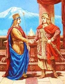 Император Великой Армении Тигран Второй и Митридат.