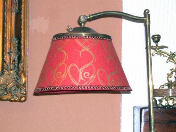 Лампа 19 в., отреставрированный торшер принтованной бумагой для декупажа