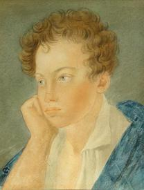Портрет 11-летнего Пушкина (Акварель С. Г. Чирикова, 1810)