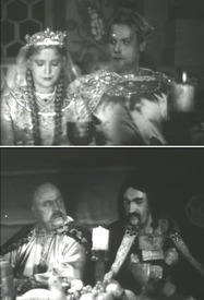Людмила, Руслан и его соперники - Фарлаф и Рогдай (из экранизации 1938)