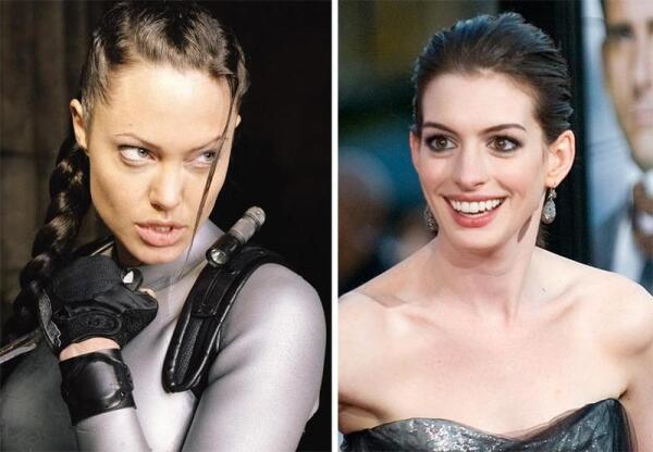 Глазасто-губатые актрисы - Анджелина Джоли и Энн Хэтэуэй