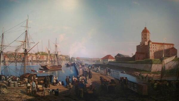 Выборг. Картина неизвестного художника, XVIII век