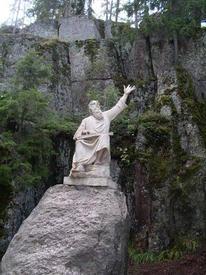 Скульптура Вяйнемёйнена (первый в мире памятник литературному герою, эпос Калевала)