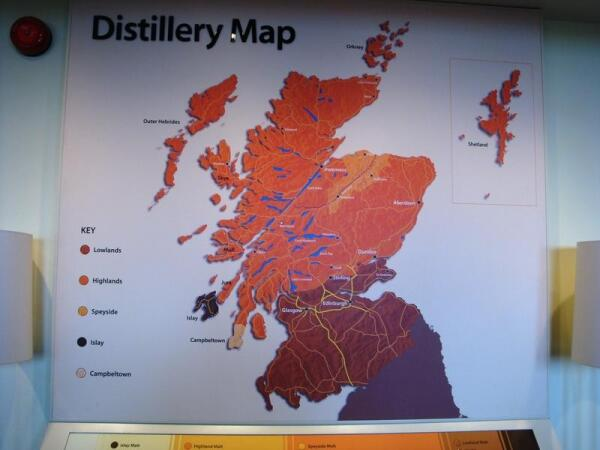 Виски-карта Шотландии