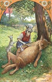 Коза не только достанет козлят оперативным путём, но ещё и натолкает волку в брюхо кирпичей