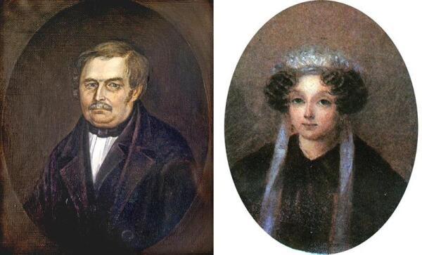 Василий Афанасьевич и Мария Ивановна - родители Н. В. Гоголя