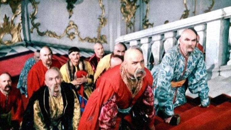 Козаки на приёме у царицы