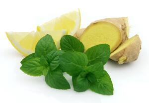 Как сделать полезный напиток из мяты, лимона и имбиря?