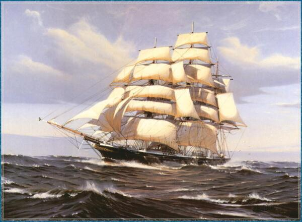 Sailboat with a keel