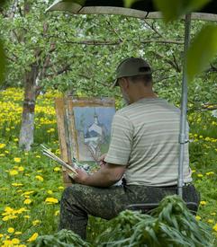 Художники рисуют кремль