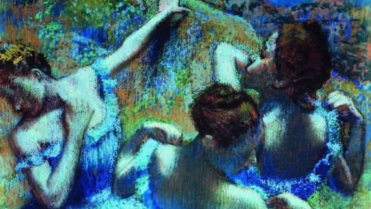 Эдгар Дега, «Голубые танцовщицы».