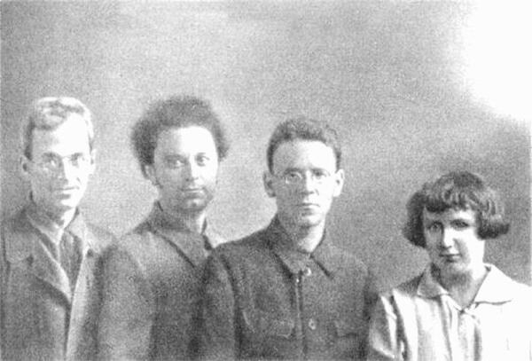 Организаторы «Детского городка»: Б. А. Леман, Л. Р. Свирский, С. Я. Маршак, Е. И. Васильева, 1921