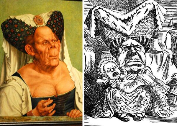 Для создания образа Герцогини Тенниел использовал портрет Массейса