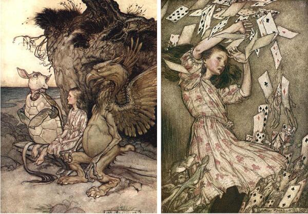 Рисунки Артура Рэкхэма (1907)