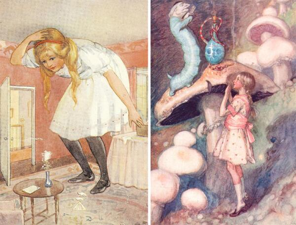 Рисунки М. Таррант (1916) и А. Джэксона (1915)