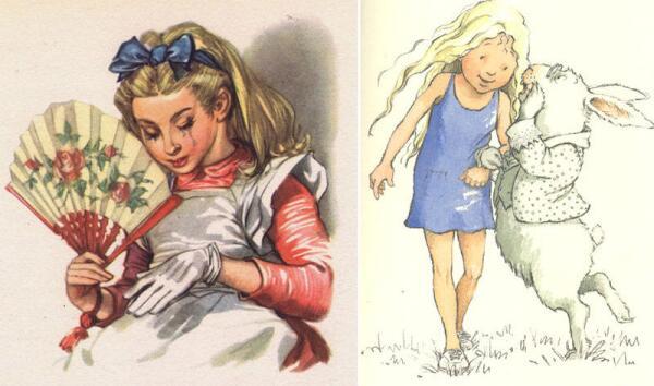 Рисунки Марайа Либико (1958) и Хелен Оксенбери (1999)
