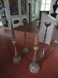 Напольные деревянные подсвечники собственноручно выточенные Петром I
