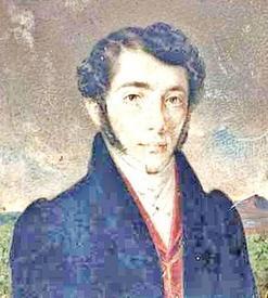 Портрет-миниатюра Каэтана Баронча. художник А. Рейхан