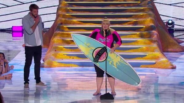 Ребел Уилсон вышла получать свою доску для серфинга в соответствующем наряде и шлепанцах