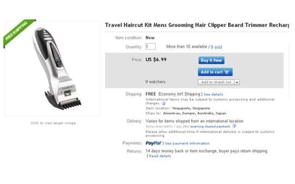 Машинка для стрижки волос на eBay