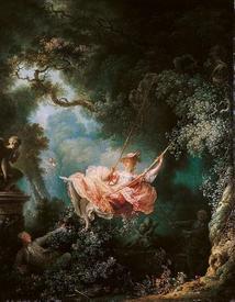 Жан Оноре Фрагонар «Счастливые случайности качания на качелях», 1767, 81х64 см, Wallace Collection, Лондон, Англия