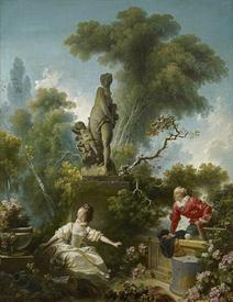 Жан Фрагонар «Достижения любви. Свидание», 317  х 243 см, коллекция Фрика, Нью-Йорк, США